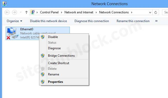 Available Network Connections