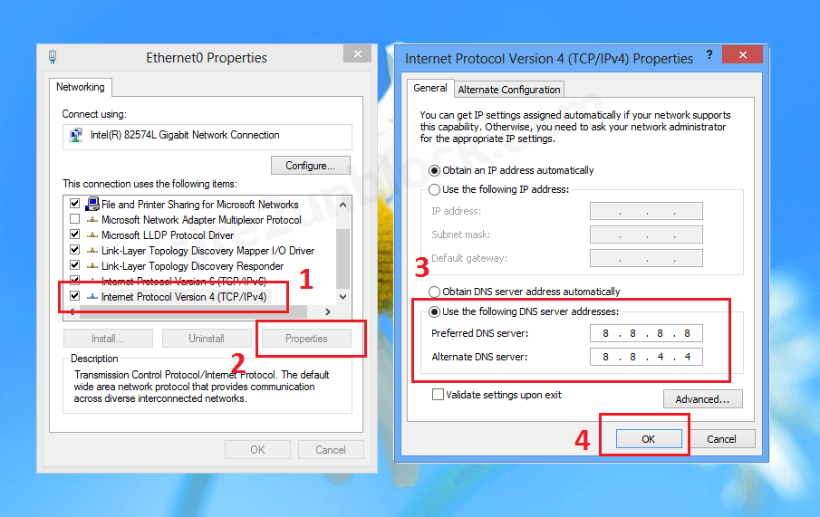 Change DNS Server Addresses