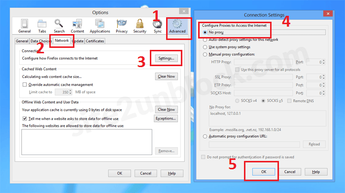 Reset Proxy Settings